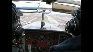 Полет Як-18Т Белоомут 3 декабря 2012года