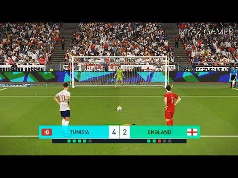 TUNISIA vs ENGLAND | Penalty Shootout | PES 2018 Gameplay PC