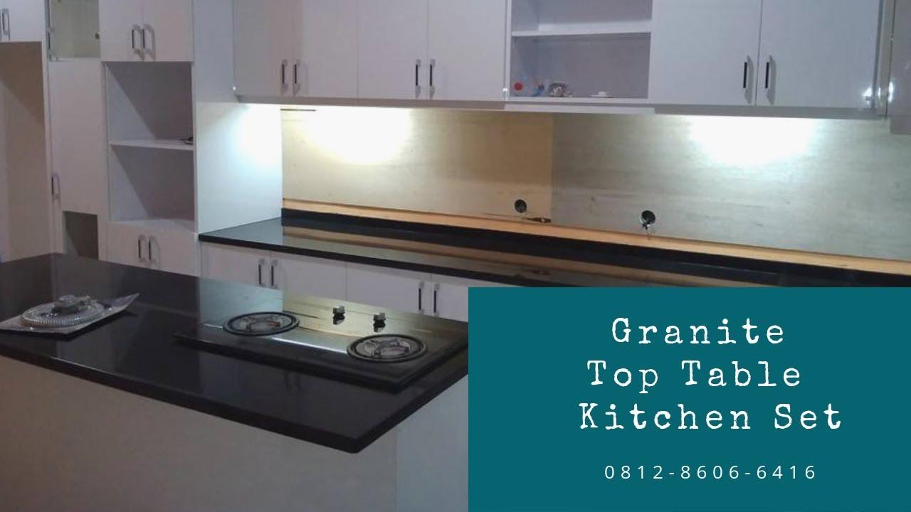 Kontak 0812 8606 6416 wa jual granite top table kitchen set