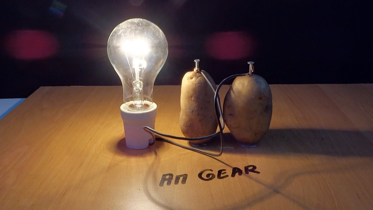 how to light a lightbulb using a potato How to power a lightbulb using a potato more than just a tasty treat, potatoes can also be used in science experiments thanks to the sulphuric acid that they contain, they make an excellent electrolyte for use as a makeshift battery.