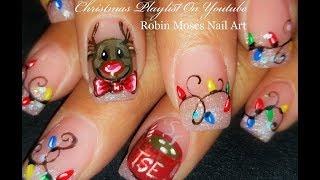 Easy Christmas Nails Diy Holly And Xmas Wreath Nail Art Tutorial