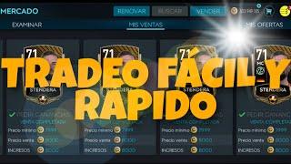 TRADEO FÁCIL Y RÁPIDO | FIFA MOBILE 20 | MANIPULACIÓN DE MERCADO, POCA INVERSIÓN BUENAS GANANCIAS
