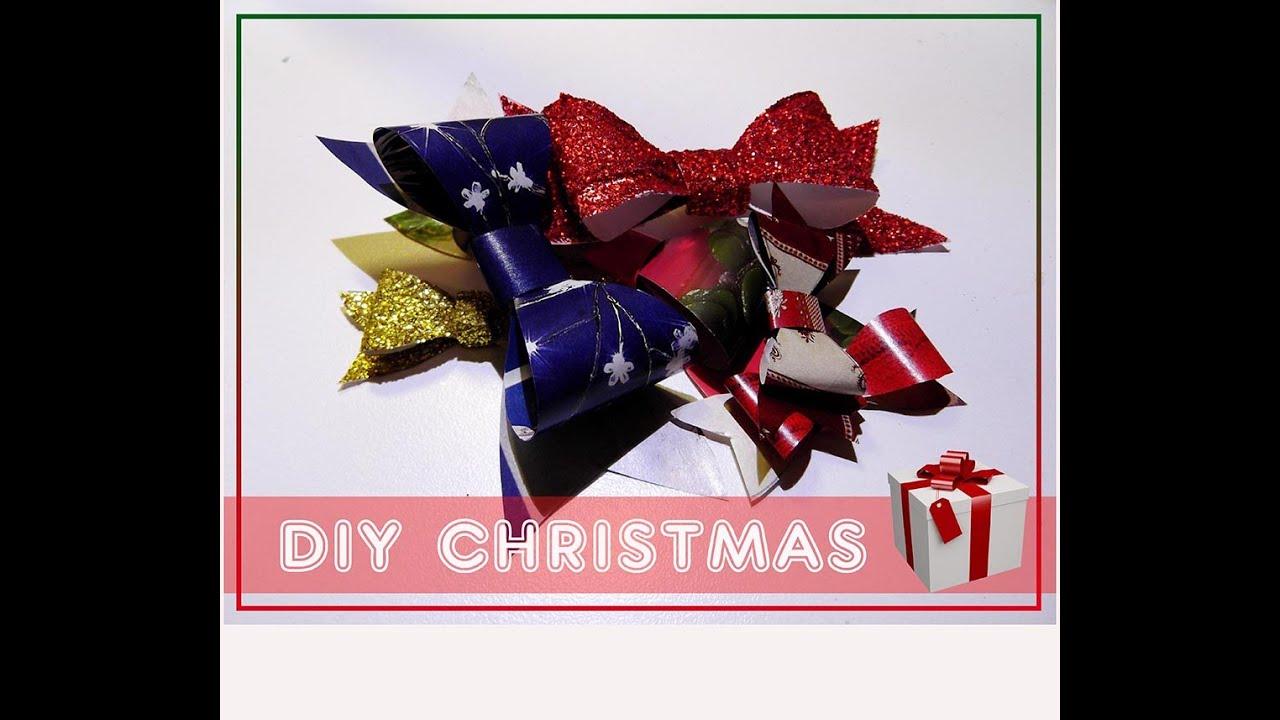 Estremamente DIY: Come fare un Fiocco per Pacco Regalo - Natale fai da te  NC18