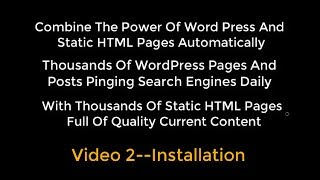 OTP Combining WP With HTML Pages Using Organic Traffic Platform Hybrid Video 2