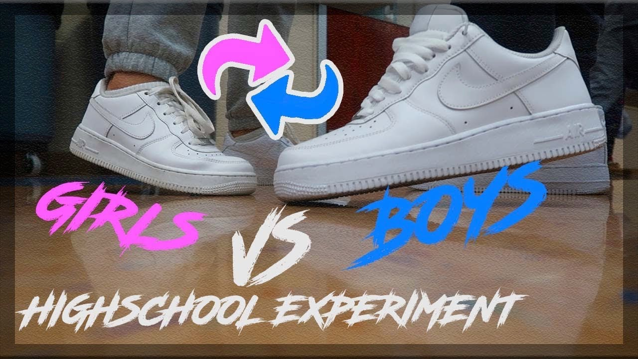 HOW GUYS WEAR AIR FORCES VS HOW GIRLS