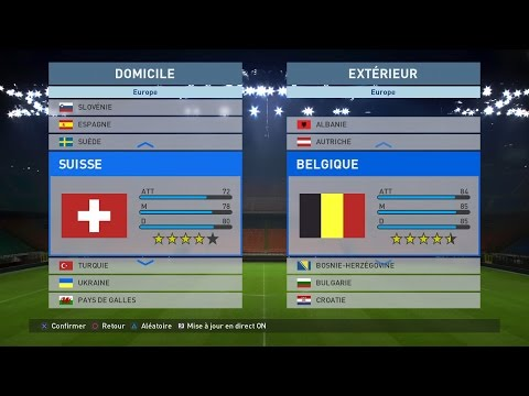 Suisse - Belgique [PES 2016]   Match Amical (Préparation UEFA EURO 2016)   CPU Vs. CPU