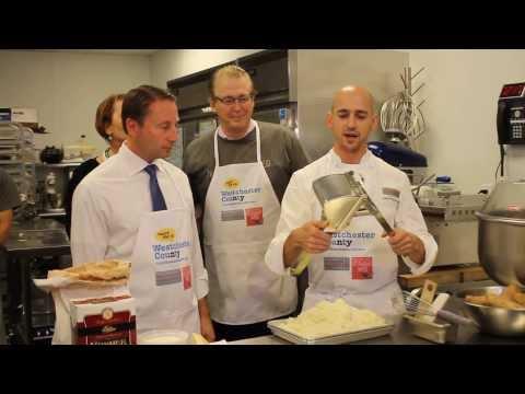 Chef John Holzwarth explains the ingredients of gnocchi.