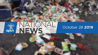 APTN National News October 28, 2019 – Movement occupies West Block, Kenora shelter reopening
