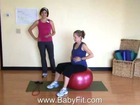 BabyFit Pregnancy Core Workout With A Ball