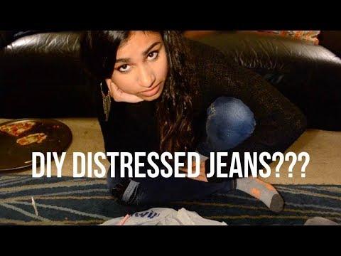 DIY Distressed Jeans Vlog