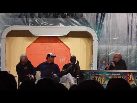 LeVar Burton, Robbie McNeill and Rene Auberjonois at the 2018 Star Trek Convention