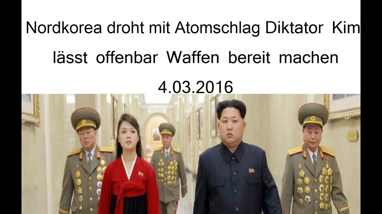 Nordkorea droht mit Atomschlag Diktator Kim lässt offenbar ...