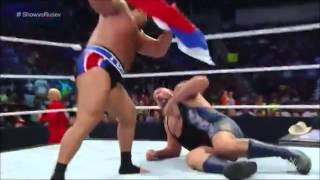 Rusev Attacks Big Show with the Russian Flag - WWE SmackDown 9/26/14 HD