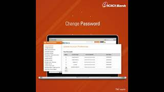 ICICI Bank Retail Internet banking - My Profile and Dashboard