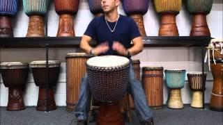 Drumskull Drums & Anthony Orlando - Ivory Coast, Lenke, Goat Skin Djembe