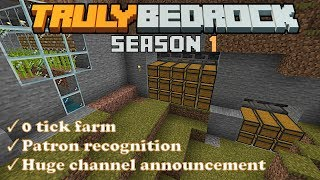 0 tick farm, villager trader, tree farm upgrade, and big channel announcement! Truly Bedrock s1 e34