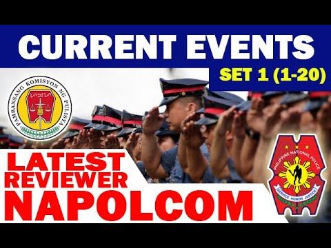 CURRENT EVENTS SET-1 (1-20) I NAPOLCOM LATEST REVIEWER I PNP REVIEWER