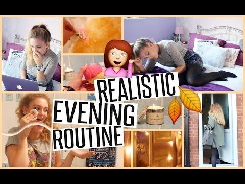REALISTIC EVENING ROUTINE! | Autumn 2016