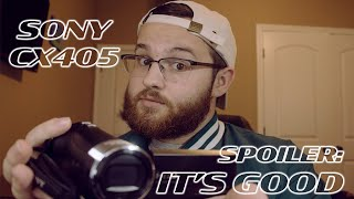 INCREDIBLE ENTRY LEVEL VIDEO CAMERA! (Sony Handycam CX405 Review)