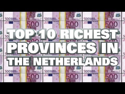 Top 10 Richest Provinces in the Netherlands 2014
