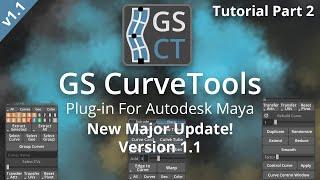 GS CurveTools v1.1 Major Update Tutorial (2/2) - Maya Plug-in, Realtime Hair Cards, Game Hair