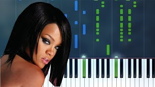 "Rihanna - ""Umbrella"" Piano Tutorial - Chords - How To Play - Cover"