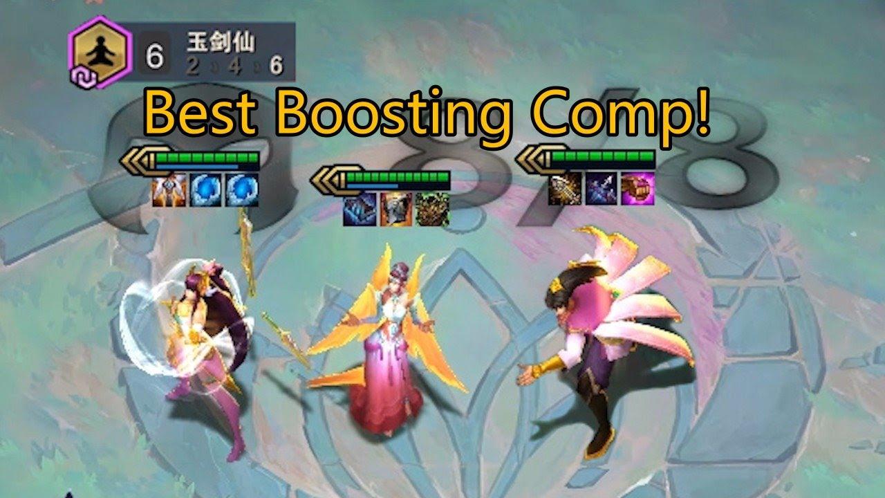 TFT Set 4 TFT Set 4 Best Boosting Comp! Enlightened Triple Carries! | Teamfight Tactics | 戰棋聯盟