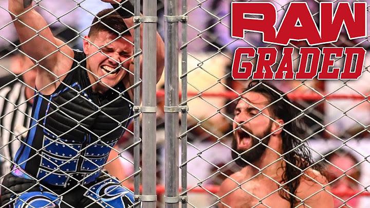 wwe raw graded 14 sep  seth rollins vs dominik mysterio inside a steel cage