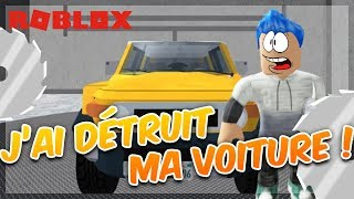 I DETRUIT MA VOITURE! Roblox Car Crusher