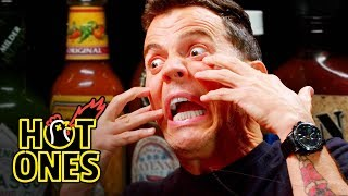 Download Steve-O Tells Insane Stories While Eating Spicy Wings | Hot Ones Mp3 and Videos