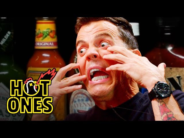 Steve-O Tells Insane Stories While Eating Spicy Wings   Hot Ones