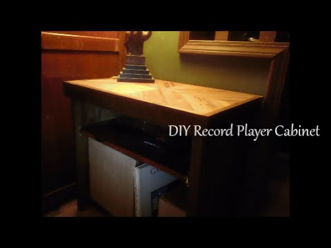 DIY Record Player Cabinet - YouTube