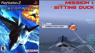 Ace Combat 4 (PS2) Walkthrough - Intro + Mission 1: Sitting Duck