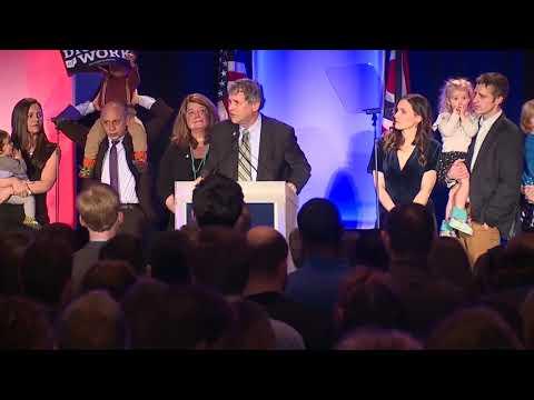 Sen. Sherrod Brown delivers victory speech