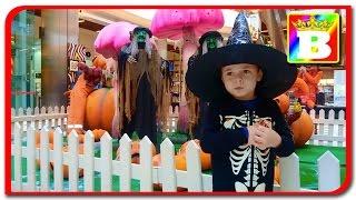 Ghost Rider  Skeleton on playground  Halloween party on mallDova  Bogdan`s Show