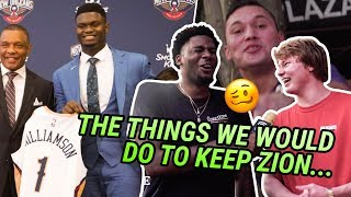 """I'd Suck His Toes."" New Orleans Is Going INSANE For Zion Williamson! Draft Night With The Pelicans!"