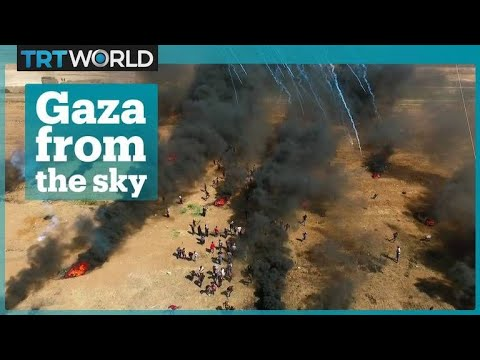 What the Gaza protests look like from the sky
