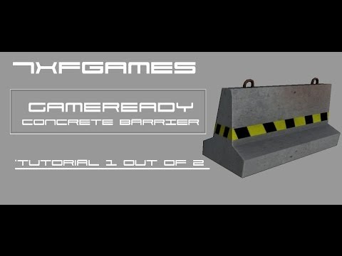 [Blender][Tutorial] - Game Ready Concrete Barrier : Modeling and Normal Maps