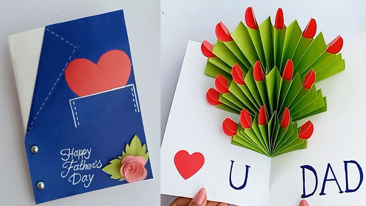 DIY Father's day Greeting card ideas \\ Handmade Father's ...