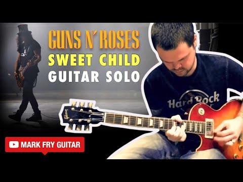 sweet child o 39 mine guns n roses guitar solo cover youtube. Black Bedroom Furniture Sets. Home Design Ideas