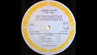 haydn, String Quartet In E Flat Major, Op  76, No  6 , Tokyo String Quartet