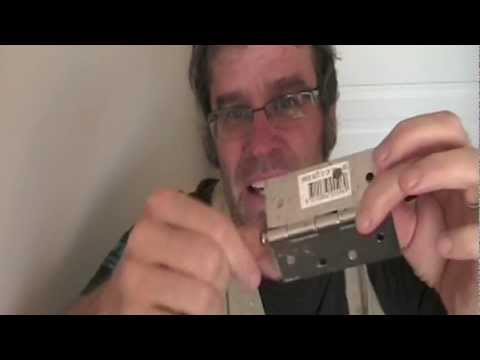 How To Remove A Door How To Remove A Hinge Pin Youtube