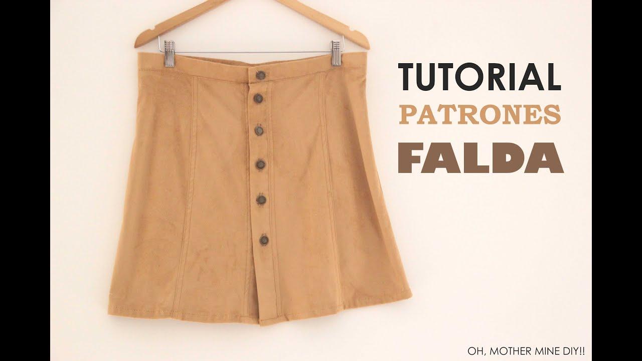 164874d67 DIY Tutorial y patrones: Falda abotonada