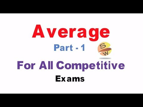 Average Tricks Shortcuts and Problems  Part 1 for  IBPS SBI PO CAT SSC CGL  RRB etc. by Smart  WAy