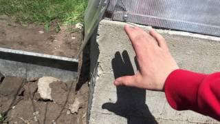 Смотреть видео Фундамент для теплицы своими руками