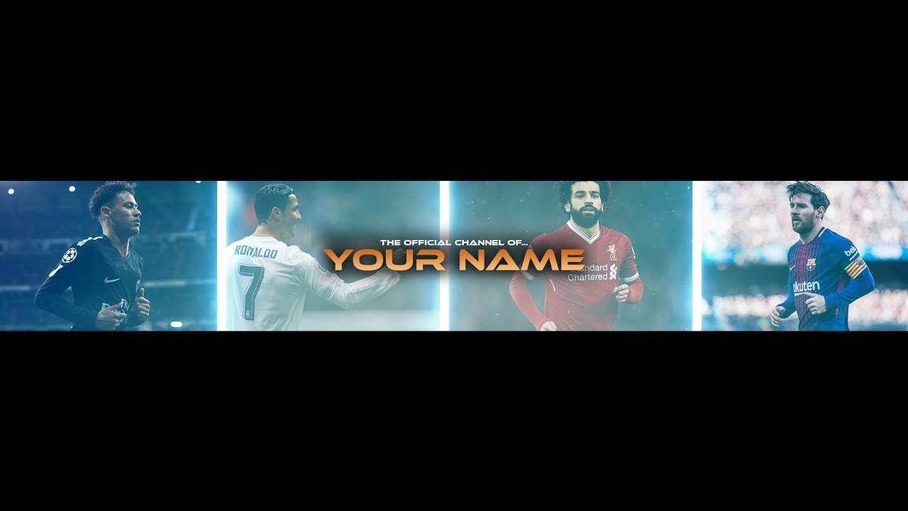 Free Football Banner Template For Youtube Channel 23 Photoshop I