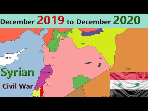 Syrian Civil War Map L Syrian War December 2019 TO December 2020
