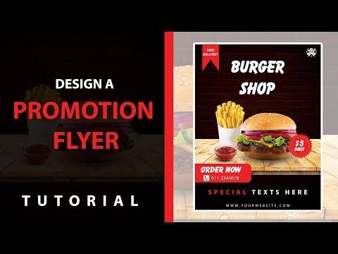 Make a Flyer design   Burger   Adobe Photoshop Tutorial thumbnail