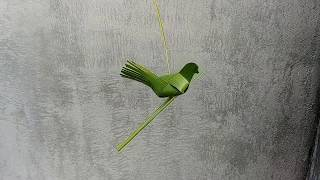 How to make a bird from palm leaf