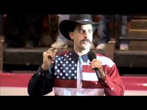 Borat's Rant And National Anthem At Rodeo